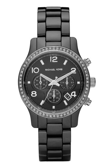 MICHAEL Michael Kors 'Runway Ceramic' Small Watch - Black : Michael Korsblack, Woman Watches, Korsblack Ceramics, Ceramics Bracelets, Michaelkor, Ceramics Glitz, Michael Kors Watches, Kors Woman, Glitz Watches