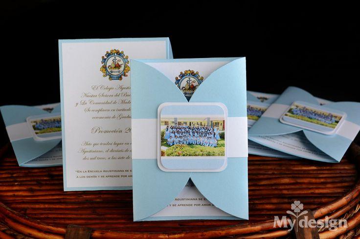 Tarjeta de invitación a graduación - Colegio Agustiniano Chitré -  http://tiendamydesign.com/panama/tarjeta-de-invitacion-a-graduacion-colegio-agustiniano-chitre