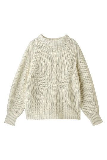 Cream gorgeous textured knitted sweater