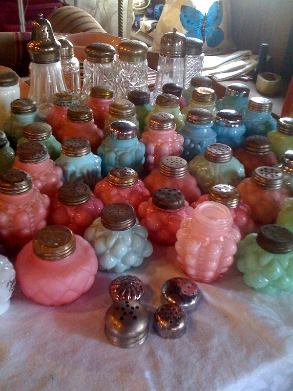 Do you collect and what? Sweet pastel collection of antique salt & pepper shakers.