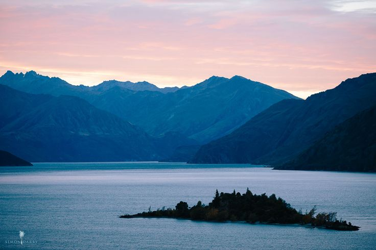 Ruby Island sitting pretty. As seen from The Rippon Hall- a unique wedding venue in Wanaka, New Zealand.