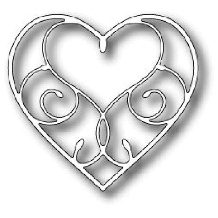 Memory Box Steel Craft Die - Silverdale Heart