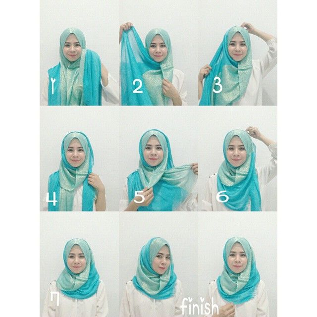 Easy Hijab Tutorial! Perfect for our Cotton voile scarves!