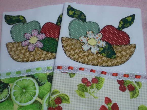 Pano de prao da engoma textil, 72cm x 45cm, patch aplique em tricoline, barrado…