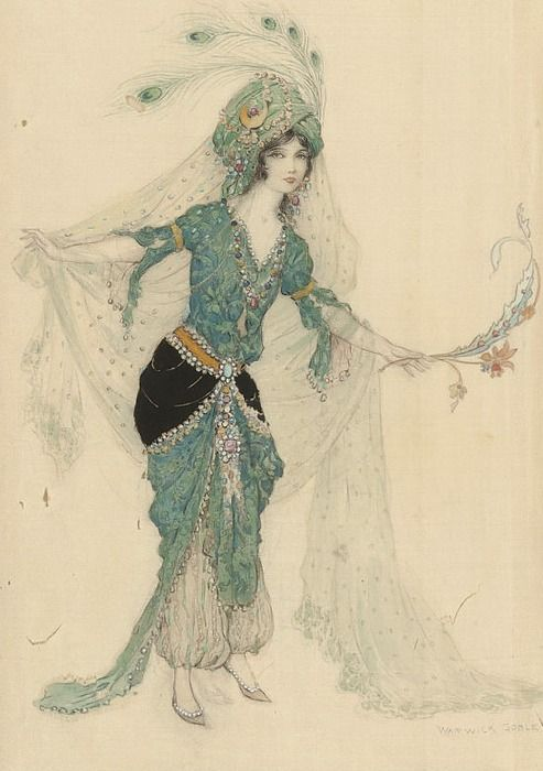thehoruseye:    oldpainting:    fleetingfancies:    ssion1984:    Warwick Goble: Odalisque    (via gypsypurpleloves)