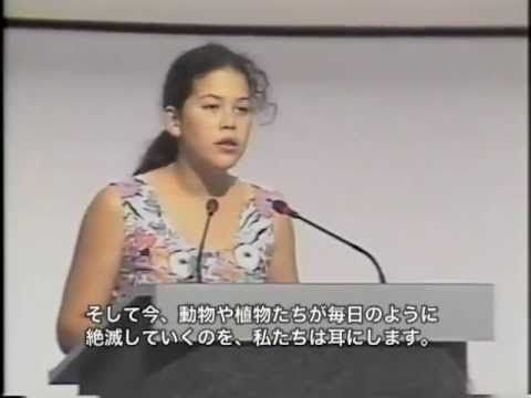Girl schools U. N. Audience!