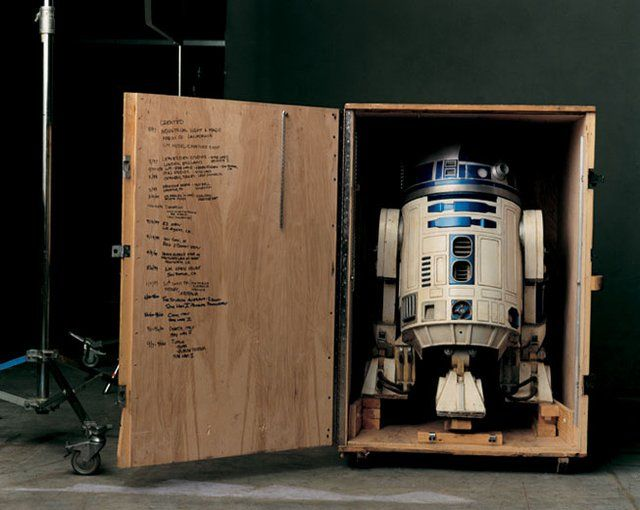 R2-D2 in his storage crate...waiting for that one-day for the director's cue on the set...