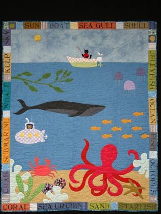 Cookseyville: Octopus's Garden Baby Quilt