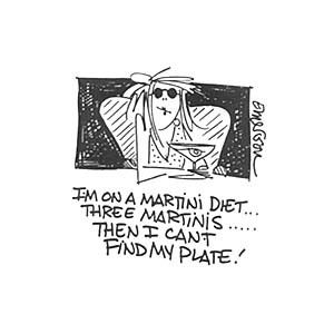 """Gourmet Rubber Stamps Cling Stamps 2.75""""X4.75"""" Martini Diet"""