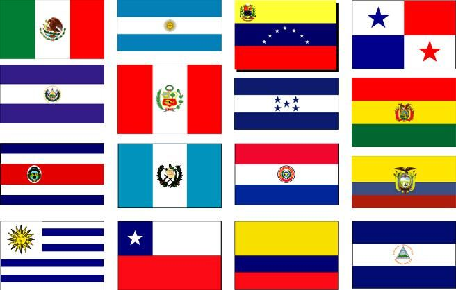 Latin Countries Flags Game 77