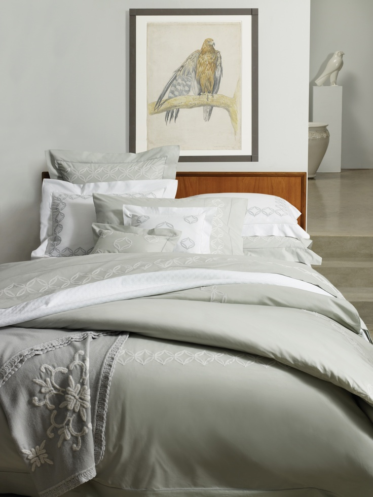 Cossa Egyptian cotton percale in Silver Sage.