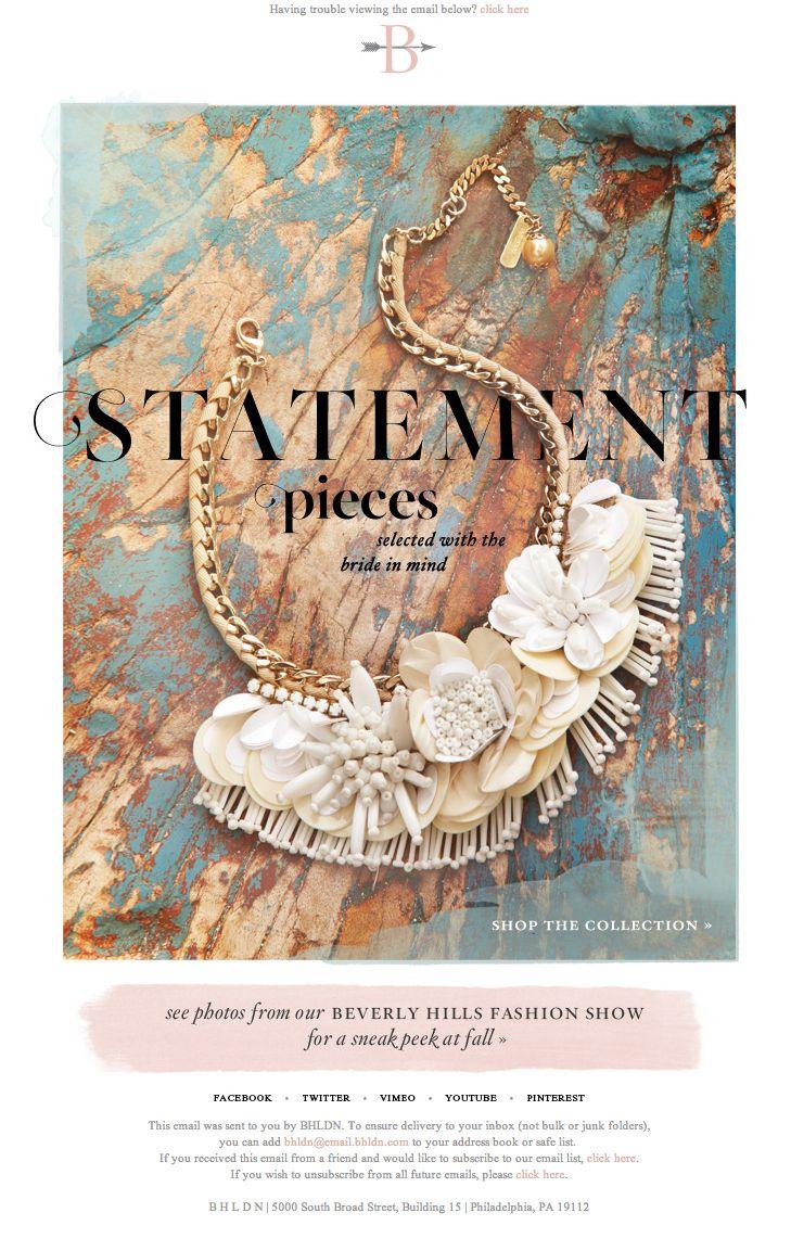 #newsletter bhldn 07.2013 - Statement pieces