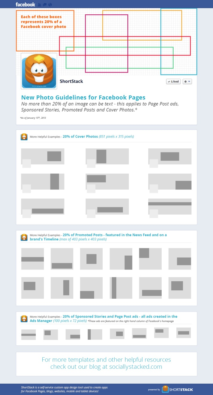 New photo guidelines for Facebook pages #infografia #infographic #socialmedia