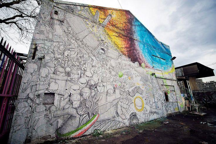 Il caso Blu a Bologna. La Street Art si autocancella: una portesta contro il sistema e gli strappi forzati dei muraes. Ma a farne le spese è non è il pubblico?