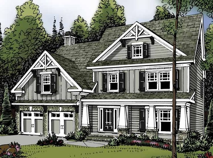 Best Two Story House Plans Images On Pinterest House Floor Plans Cottages And Country Home