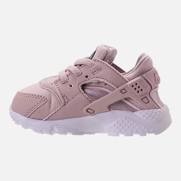 039cb632e267 Left view of Girls  Toddler Nike Huarache Run Running Shoes in Particle Rose  Particle Rose Thunder