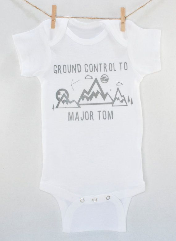 This David Bowie onesie tribute! David Bowie Bodysuit Ground Control Major by thewhiteoakshoppe