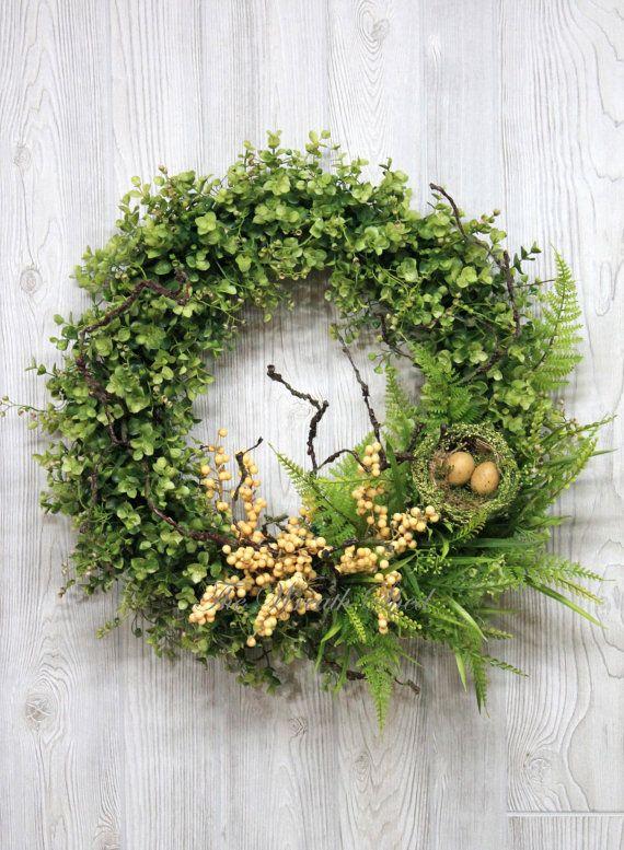 Ships Free Boxwood And Berry Wreath Boxwood Wreath