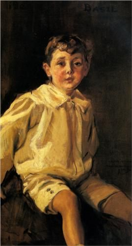 A Portrait of Basil Mundy - Joaquín Sorolla