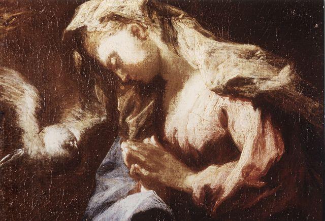 Anonimo, Gherardini Alessandro - sec. XVII/ XVIII - Maria Vergine annunciata: particolare © Fondazione Federico Zeri