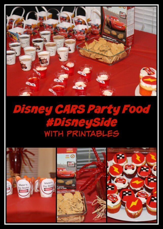 Disney CARS Party Food - If you are planning a Lightening McQueen Cars party, be sure to check out all these great party food ideas!