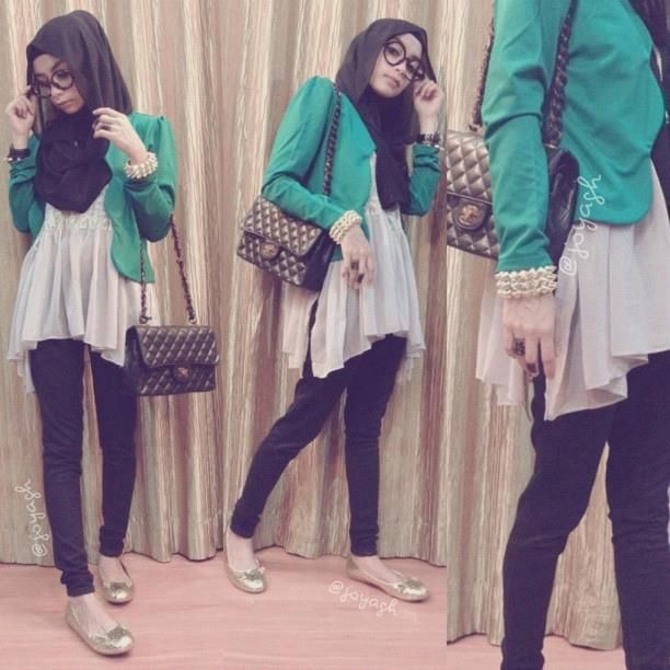 Emerald Green Blazer- completes the outfit.