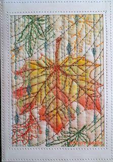 Jolcine pasje, liść klonu, jesień (pocztówka)