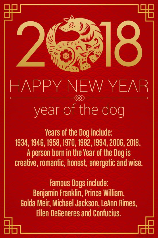 in 2018 the chinese year of the dog begins on february 16th years of the - Chinese New Year 1994