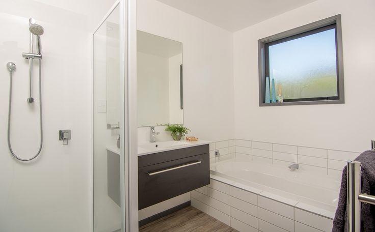 Bathroom with built in bath.
