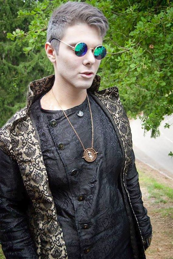 MADE TO ORDER  Black gold damask coat jacket by RavenThreadsLab