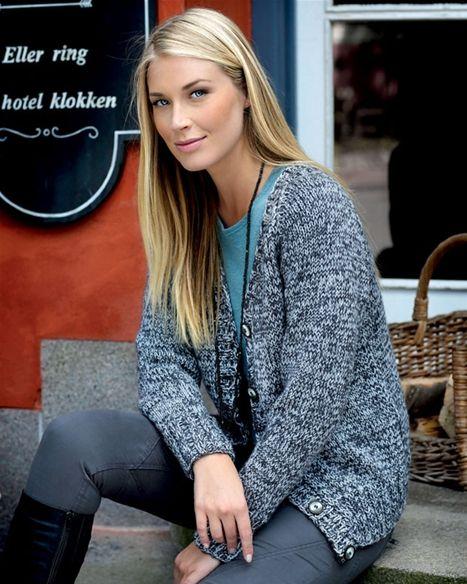 Strik selv: Smuk meleret trøje - Hendes Verden