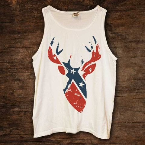 Rebel Flag Buck Tank