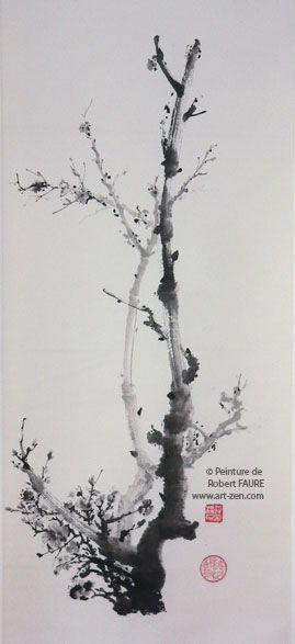 1 - Les grands classiques par Robert FAURE Branches de prunier : l'une s'affirme, l'autre s'estompe