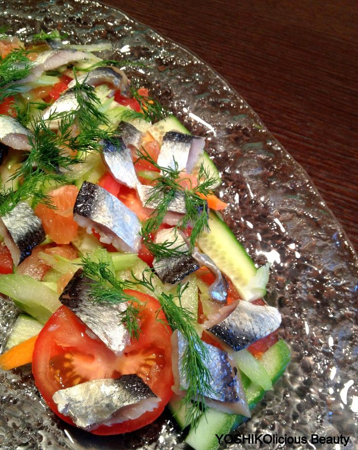 YOSHIKOlicious Beauty: Salad with Pickled Herrings    酢漬けのニシン入りサラダ