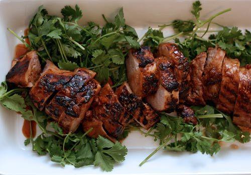 Soy-Marinated Grilled Pork Tenderloin via Serious Eats: