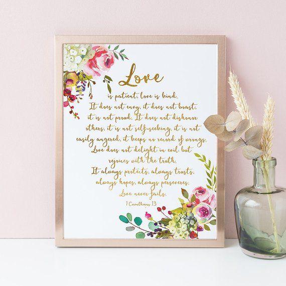 1 Corinthians 13 Print Love Is Patient Love Is Kind Bible Verse