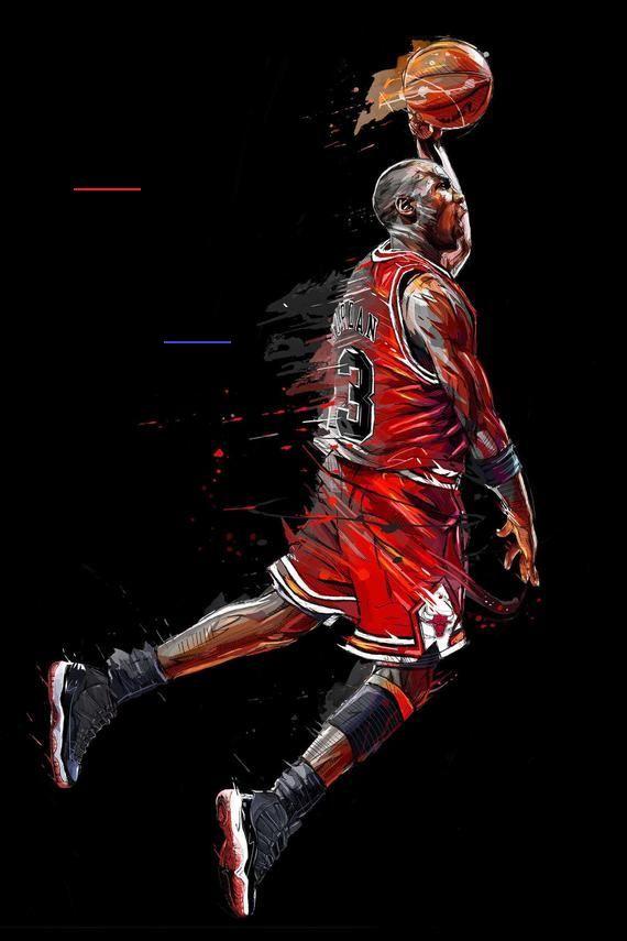 michael jordan dunk poster canvas or
