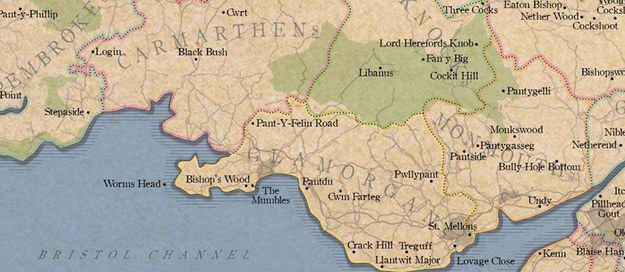 Rude Place Names in Britain /South Wales includes such classics as Pwllypant, Cwm Farteg and Bully-Hole Bottom.