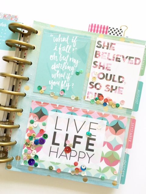 embellishing POCKET PAGES™ to use in your Happy Planner™ by mambi Design Team member Thuy Bui | me & my BIG ideas