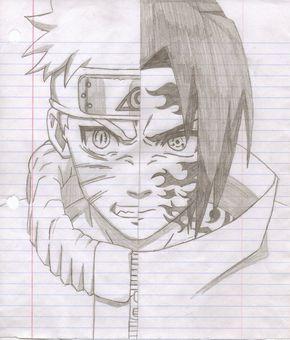 naruto drawings sasuke   Naruto vs Sasuke Drawings