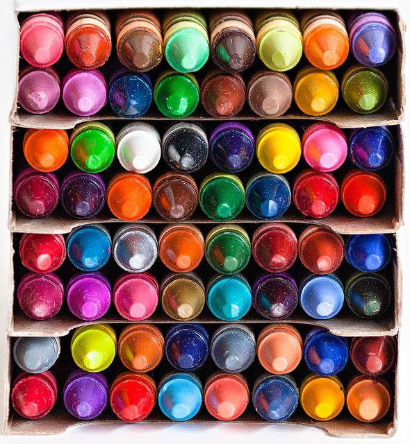 You just can't beat a box of crayons (great photo by pj taylor)
