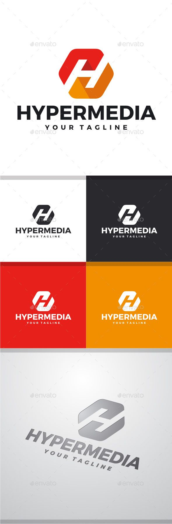 Hyper Media - Letter H Logo  — PSD Template #icon #vector • Download ➝ https://graphicriver.net/item/hyper-media-letter-h-logo/11526960?ref=pxcr