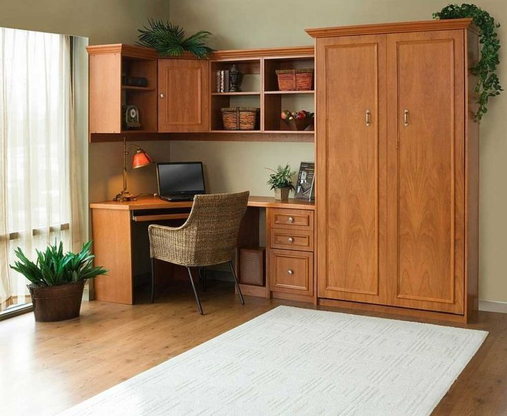 Simple Cupboard Designs for Bedrooms With Rattan Chair And Creative Bed That Hide Away During Daytime Hide A Bed