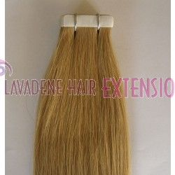 """Colour: #18 Dark Blonde Tape Hair Extensions Straight - 20"""" Style : Straight Weight: 60grams Length:  20 inches 20pces in 1 pack"""