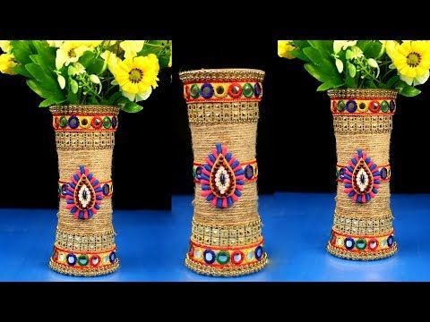 Pinterest & DIY Flower Pot out of Disposable Plastic Glass and jute // Make ...