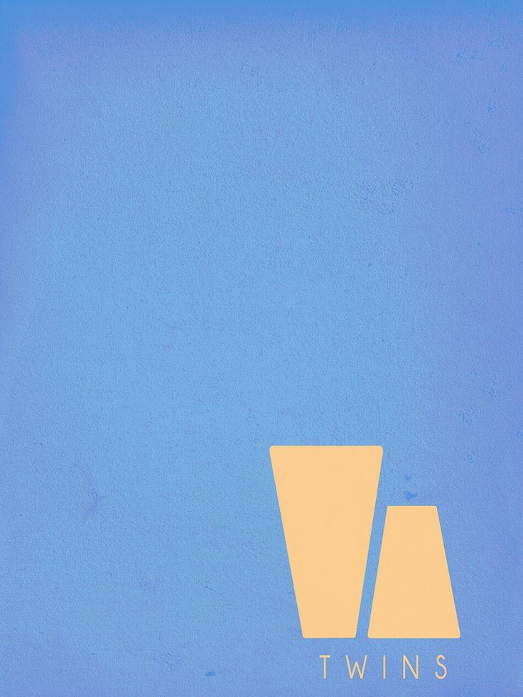 Twins (1988) ~ Minimal Movie Poster by Vipez #amusementphile