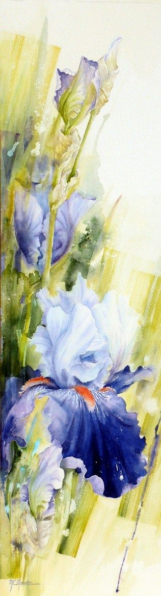#Art #Flowers - Moudru Marie-Claire WATERCOLOR Great Reads from Exceptional Authors at http://wildbluepress.com. http://www.ablankcanvas.net