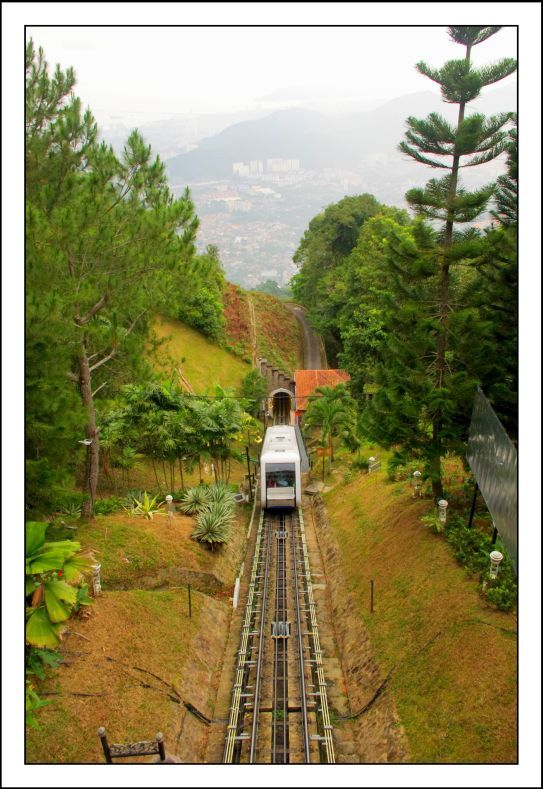 Penang hill train - Georgetown, Pulau Pinang, Malaysia..always love the ride