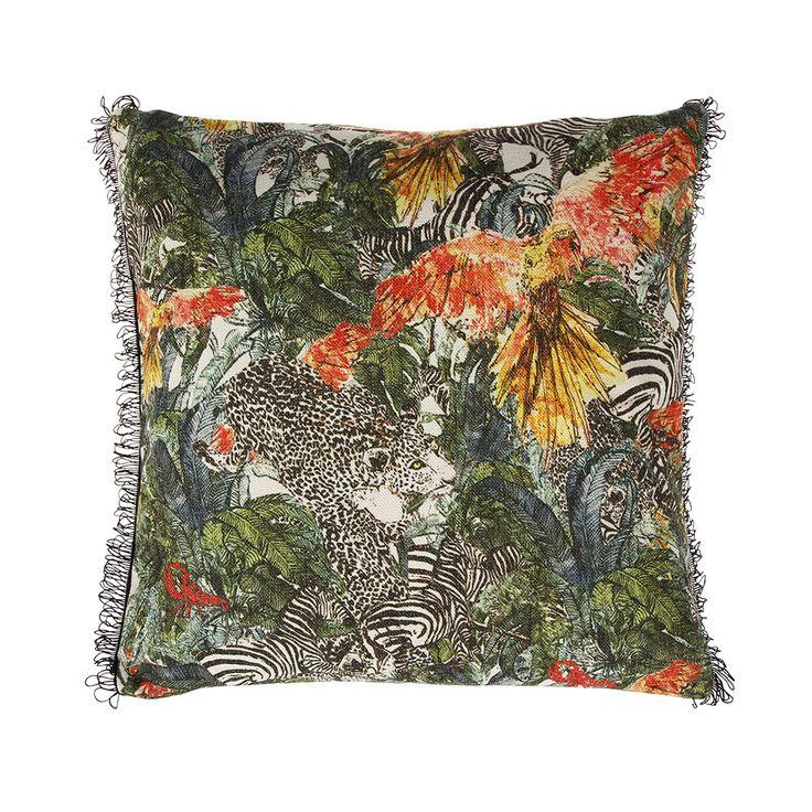 Discover the Jessica Russell Flint Jungle Jungle Cushion at Amara
