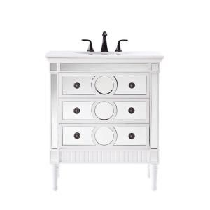 Digital Art Gallery Home Decorators Collection Reflections in Empire Single Vanity in White with Natural Marble